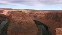 Arizona, USA - November 4, 2015: Horseshoe Bend, Grand Canyon, NRA - stock footage