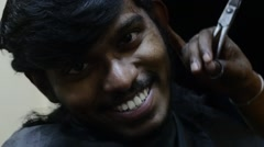 Honest smile from indian boy Stock Footage