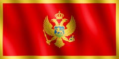 Flag of Montenegro waving in the wind Stock Illustration