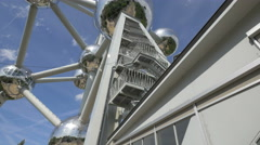 Outside staircase at the Atomium in Brussels Stock Footage