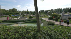 Mini-Europe on a sunny day in Brussels Stock Footage