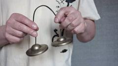 Buddhist bells Stock Footage