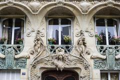 Stock Photo of Art Deco facade Avenue Rapp Paris IledeFrance France Europe