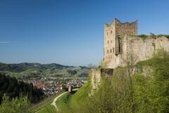 Ruine Neu Schauenburg castle ruins Oberkirch Ortenau Black Forest - stock photo