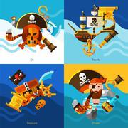 Pirates 2x2 Design Concept Set Piirros
