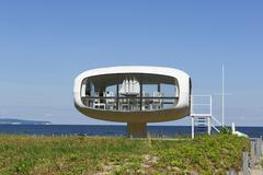 Wedding chapel Binz registry office sea resort Binz Ruegen MecklenburgWestern - stock photo
