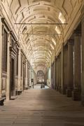 Stock Photo of Arcades Uffizi Gallery night Florence Tuscany Italy Europe