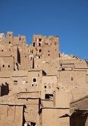 Stock Photo of Adobe houses Ait Benhaddou Ouarzazate SoussMassaDraa Morocco Africa