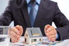 Mortgage for house - stock photo