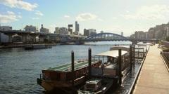 Boats at Dock Yard Stock Footage
