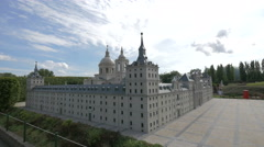 Scale model of the El Escorial displayed at the Mini-Europe, Brussels Stock Footage