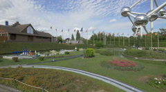 Live action models displayed at the Mini-Europe, Brussels - stock footage