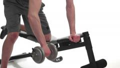 One-arm Bent Over Row Stock Footage