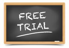 Blackboard Free Trial - stock illustration