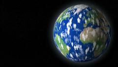 Earth human overpopulation destroy planet with text space Stock Footage