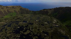 Mirador Volcano Rano Kau Easter Island, Rapa Nui - stock footage