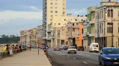 Cuba, Havana, Centro Habana, the Malecon - stock footage