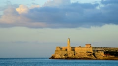 Cuba, Havana, Castillo del Morro (Castillo de los Tres Reyes del Morro) Stock Footage