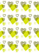 seamless pattern of funky  hearts,  vector - stock illustration