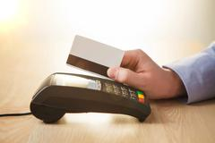 Credit card payment, buy and sell products or service Stock Photos