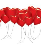 A lot of red hearts Stock Illustration