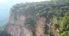 Waterfall at Chapada dos Guimaraes, Mato Grosso, Brazil Stock Footage