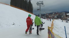 Ski Resort , Ski instructor Stock Footage