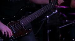 Bass guitar player Stock Footage