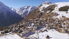 Les Deux Alpes Aerial 4k Stock Footage