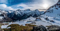 Mountains Panorama Motionlapse 4k Stock Footage