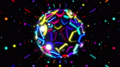 Colorful Beat Disco 3D Ball - stock footage