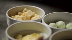 Ingredients for caesar salad. - stock footage