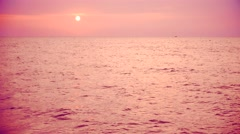Sea horizon during sunset time - stock footage