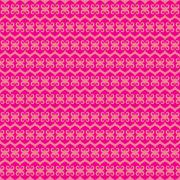 creative heart shape pattern pink background vector - stock illustration