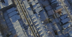 Weehawken Snow 2016 Ascending & Descending Showing Houses Stock Footage