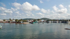 Phu Quoc harbor in south Vietnam - stock footage