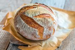 Wheaten homemade bread to leaven. - stock photo