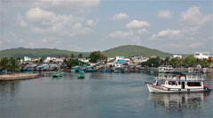 Phu Quoc harbor Stock Footage