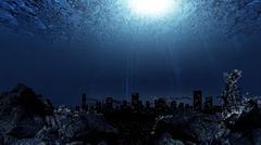 Underwater city Stock Illustration