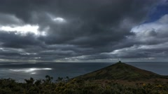 Dramatic Timelapse 4K HDR Cornwall Time Lapse Rame Head Chapel Cornish Coastline Stock Footage