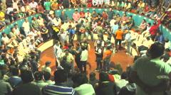Public Cockfight Arena Banos De Agua Santa Ecuador - stock footage