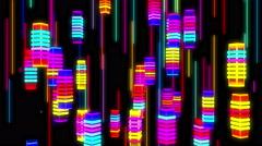 Bright Color Square Stripe - stock footage