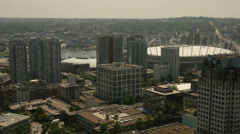 Aerial View Vancouver, Canada Stock Footage