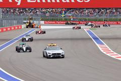 Lewis Hamilton of Mercedes AMG Petronas. Formula One. Sochi Russia Stock Photos