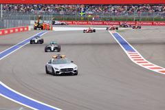 Lewis Hamilton of Mercedes AMG Petronas. Formula One. Sochi Russia - stock photo