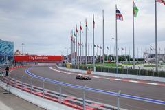 Pastor Maldonado of Lotus F1 Team. Formula One. Sochi Russia Stock Photos