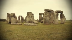 View of the Stonehenge - stock footage