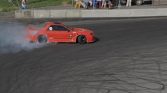 Racer is preparing to race Drift - stock footage