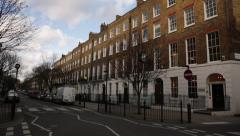 London terrace houses, England, Europe Stock Footage