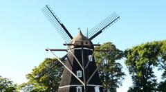 Zoom out of Windmill in Copenhagen Denmark - stock footage